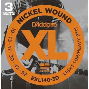 D´addario EXL140-3D Light Top/Heavy Bottom Cuerdas Guitarra Eléctrica